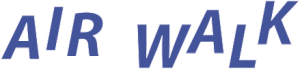 Air Walk logo white outline