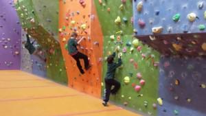 Cub Scouts bouldering